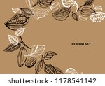 vector set of hand drawing of... | Shutterstock .eps vector #1178541142