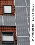 solar panels on roof of low... | Shutterstock . vector #1178545198