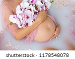 bath pregnancy milk | Shutterstock . vector #1178548078