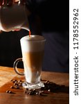 coffee latte on the bar. close... | Shutterstock . vector #1178552962