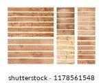 old wood planks isolated on... | Shutterstock . vector #1178561548