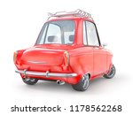 red retro car isolated on a... | Shutterstock . vector #1178562268