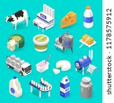 dairy products factory... | Shutterstock .eps vector #1178575912