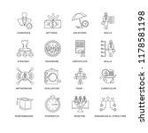 set of 16 simple line icons... | Shutterstock .eps vector #1178581198