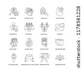 set of 16 simple line icons... | Shutterstock .eps vector #1178581228