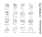set of 16 simple line icons... | Shutterstock .eps vector #1178581792