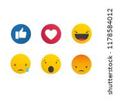 collection of social media ... | Shutterstock .eps vector #1178584012