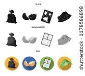 a garbage bag  a broken egg...   Shutterstock .eps vector #1178586898