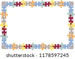 frame of pieces of puzzles. | Shutterstock .eps vector #1178597245