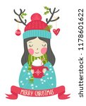 merry christmas greeting card...   Shutterstock .eps vector #1178601622