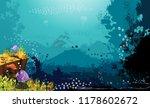a beautiful underwater scene  a ... | Shutterstock .eps vector #1178602672