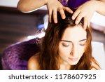 Close up head massage