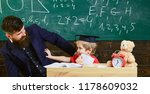 teacher and pupil in... | Shutterstock . vector #1178609032