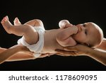 newborn child with nappy in... | Shutterstock . vector #1178609095