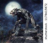 fantasy werewolf standing on a... | Shutterstock . vector #1178615872