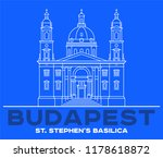 st stephen's basilica icon in... | Shutterstock .eps vector #1178618872
