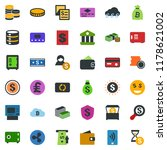 colored vector icon set   safe... | Shutterstock .eps vector #1178621002
