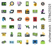 colored vector icon set  ... | Shutterstock .eps vector #1178625325