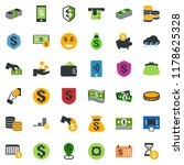 colored vector icon set   cash... | Shutterstock .eps vector #1178625328