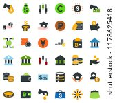 colored vector icon set  ... | Shutterstock .eps vector #1178625418