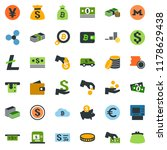 colored vector icon set  ... | Shutterstock .eps vector #1178629438
