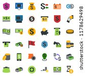 colored vector icon set  ... | Shutterstock .eps vector #1178629498