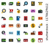 colored vector icon set  ... | Shutterstock .eps vector #1178629612