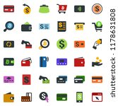 colored vector icon set  ... | Shutterstock .eps vector #1178631808