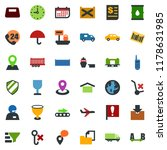 colored vector icon set  ... | Shutterstock .eps vector #1178631985
