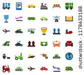 colored vector icon set  ... | Shutterstock .eps vector #1178633188