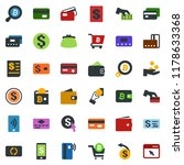 colored vector icon set  ... | Shutterstock .eps vector #1178633368