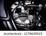 engine oil cap installed on a... | Shutterstock . vector #1178635015