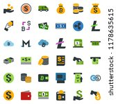 colored vector icon set  ... | Shutterstock .eps vector #1178635615