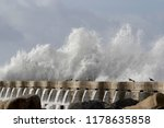 detailed big stormy sea wave... | Shutterstock . vector #1178635858
