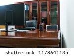 modern workspace with computer...   Shutterstock . vector #1178641135