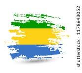 grunge brush stroke with gabon... | Shutterstock .eps vector #1178643052