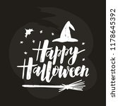 happy halloween   hand... | Shutterstock .eps vector #1178645392