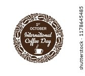 symbol international coffee day ...   Shutterstock .eps vector #1178645485