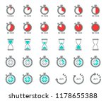 timer and sand clock icon for... | Shutterstock .eps vector #1178655388