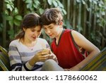 teenager siblings couple boy... | Shutterstock . vector #1178660062