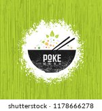 poke bowl hawaiian cuisine... | Shutterstock .eps vector #1178666278