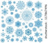 snowflakes christmas vector... | Shutterstock .eps vector #117867496