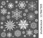 snowflakes christmas vector... | Shutterstock .eps vector #117867505