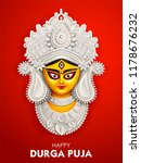 illustration of goddess durga... | Shutterstock .eps vector #1178676232