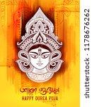 illustration of goddess durga... | Shutterstock .eps vector #1178676262