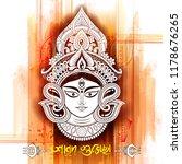illustration of goddess durga... | Shutterstock .eps vector #1178676265