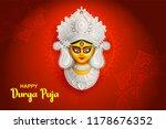 illustration of goddess durga... | Shutterstock .eps vector #1178676352
