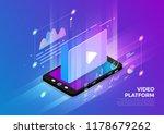 isometric illustrations design... | Shutterstock .eps vector #1178679262
