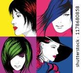 pop art illustration. lovely... | Shutterstock .eps vector #1178680858