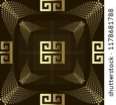 dotted gold 3d greek style... | Shutterstock .eps vector #1178681788